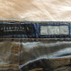 Aeropostale Shorts - Aeropostale midi distressed denim short. Size 12